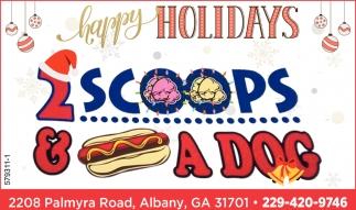 Happy Holidays, 2 Scoops & A Dog, Albany, GA