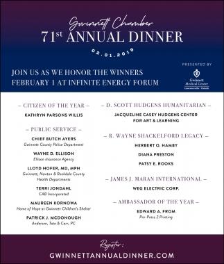71st Annual Dinner