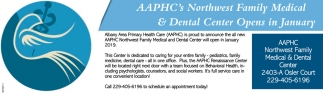 AAPHC's Northwest Family Medical & Dental Center Opens in January