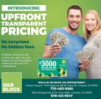 Upfront Transparent Pricing