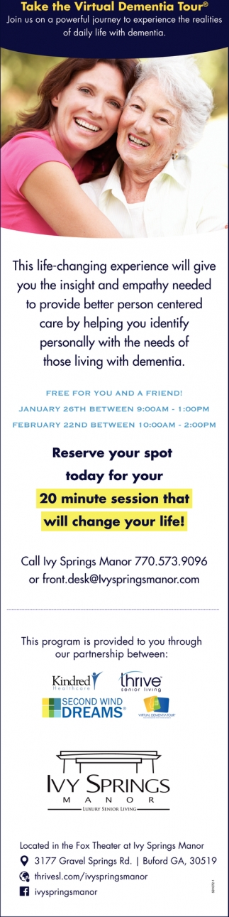Take the Virtual Dementia Tour