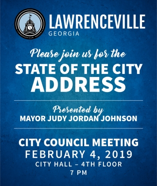 State pf the City Address