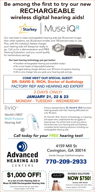 Be Among the First to Try Our New Rechargeable Wireless Digital Hearing Aids!