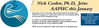 Nick Carden, Ph.D, Joins AAPHC this January