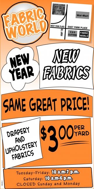 New Year New Fabrics