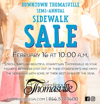 Semi-Annual Sidewalk Sale