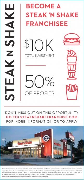 Become a Steak 'N Shake Franchisee