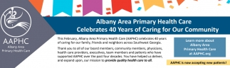 Albany Area Primary Health Care Celebrates 40 Years of Caring for Our Community