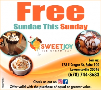 Free Sunday this Sunday