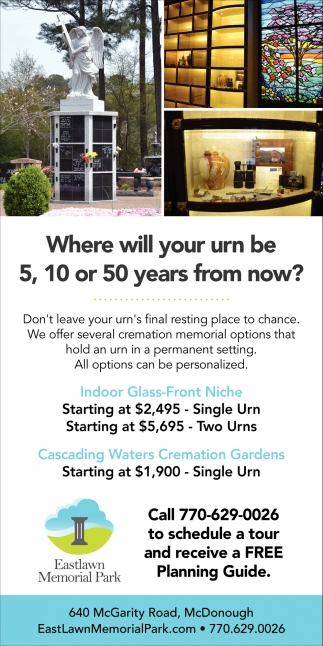 Where Will Your Urn be 5, 10 or 50 Years from Now?
