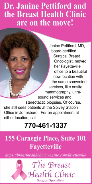 Dr. Janine Pettiford and The Breast Health Clinic are on the Move!