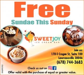 Free Sundae this Sunday