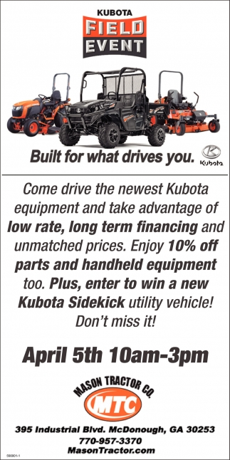 Kubota Field Event