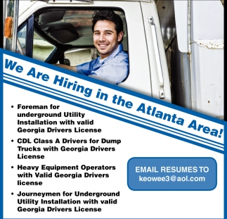 We Are Hiring in the Atlanta Area