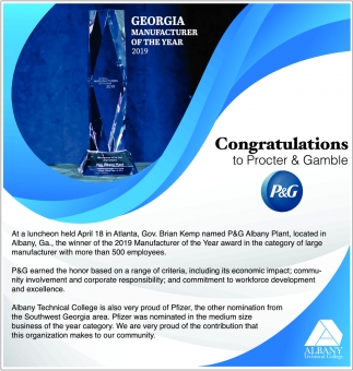 Congratulations to Procter & Gamble