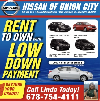 Rent to own with low down payment