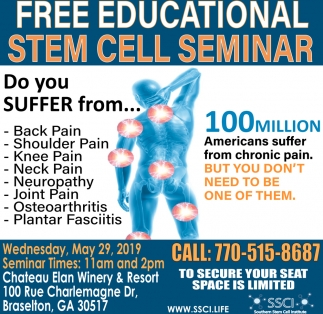 Free Educational Stem Cell Seminar