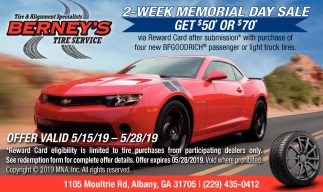 2-Week Memorial Day Sale