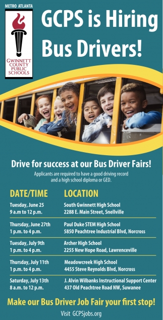 GCPS is Hiring Bus Drivers
