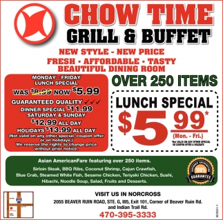 Marvelous Lunch Special Chow Time Grill Buffet Norcross Ga Beutiful Home Inspiration Xortanetmahrainfo