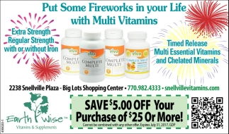 Put some fireworks in your Life with Multi Vitamins