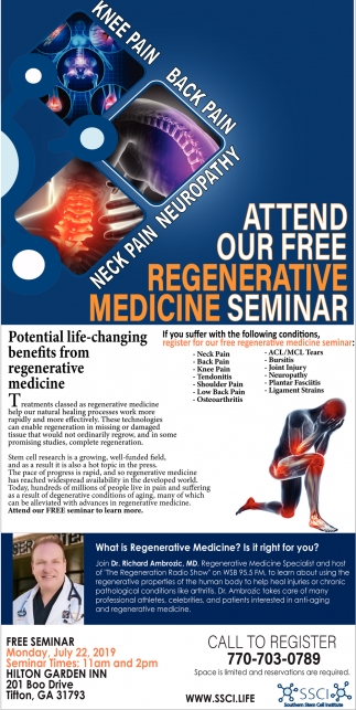 Attend Our Free Regenerative Medicine Seminar