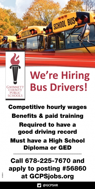 We're Hiring Bus Drivers