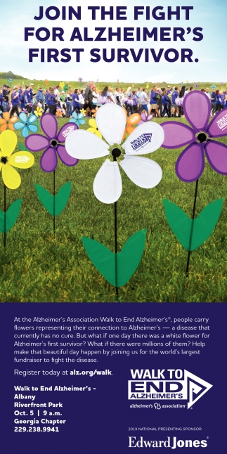 Join the Fight for Alzheimer's First Survivor