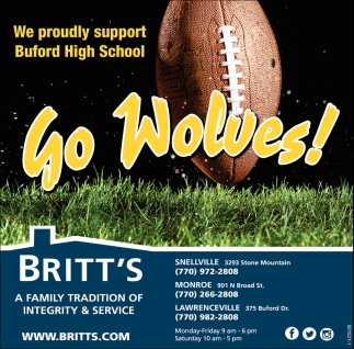 We Proudly Support Buford High School