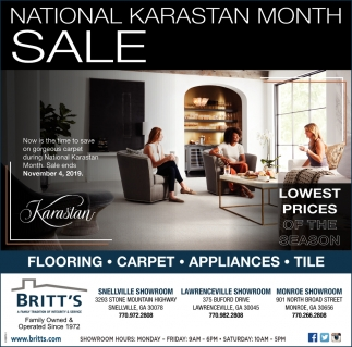 National Karastan Month Sale