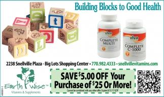 Building Blocks to Good Health