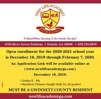 Open Enrollment for the 2020-2021