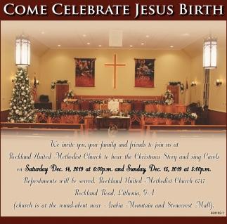 Come Celebrate Jesus Birth