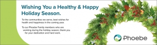 Wishing you a Healthy & Happy Holiday Season