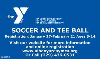 Soccer and Tee Ball