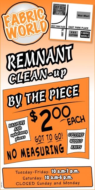 Remmant Clean-Up