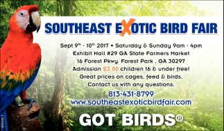 Southeast Exotic Bird Fair