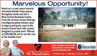Marvelous Opportunity