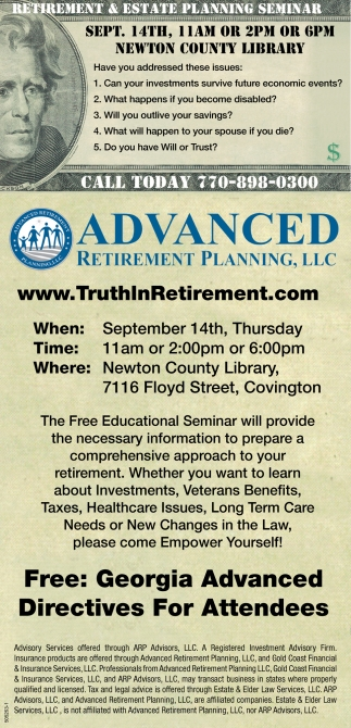 Retirement & Estate Planning Seminar