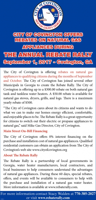 The Annual Rebate Rally