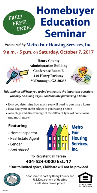 Homebuyer Education Seminar