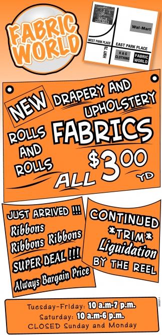 Drapery and Upholstery Fabrics