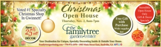 Amazing Christmas Open House, The Family Tree Garden Center, Snellville, GA