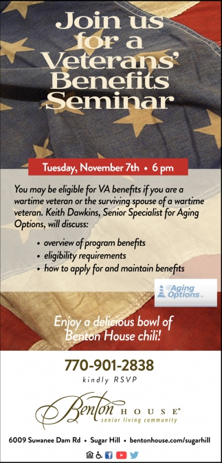 Join Us For A Veterans' Beneifts Seminar