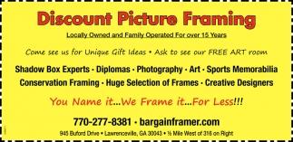 discount picture framing bargain framer lawrenceville ga - Discount Framing