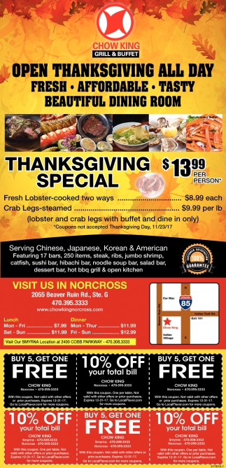 Open Thanksgiving ALL DAY!