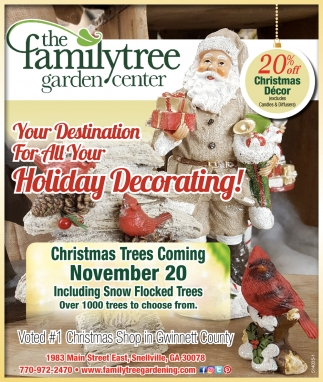 Holiday Decorating!, The Family Tree Garden Center, Snellville, GA