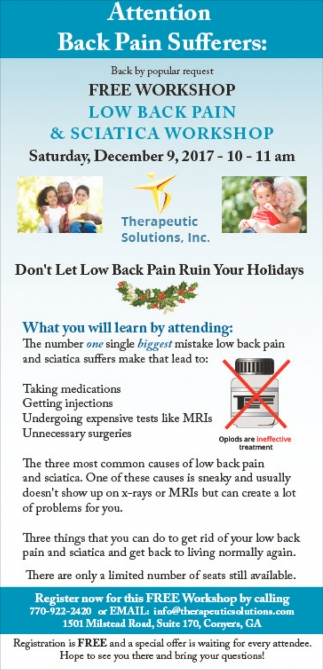 Attention Back Pain Sufferers