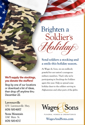 Brighten a Soldier's Holiday