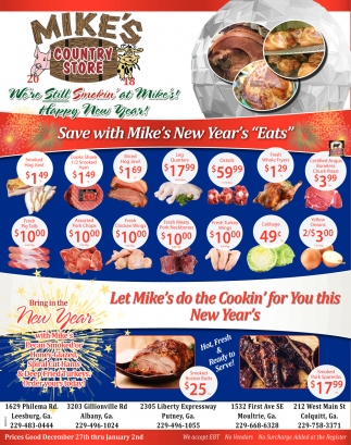 Save with Mike's New Year's ''Eats''